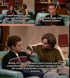 Hahaha, Boy Meets World makes me giggle. Shawn Hunter, ladies and gentlemen. World Quotes, Tv Quotes, Movie Quotes, Famous Quotes, Wisdom Quotes, Life Quotes, Boy Meets World, Austin And Ally, Jane Austen