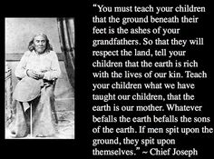 chief joseph quotes - Google Search