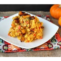 Vegetarian Creamy Pumpkin Risotto straight from the slow cooker