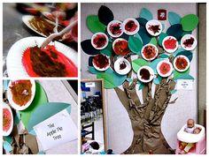 Preschool Art Activities - Apple & Tree Themed
