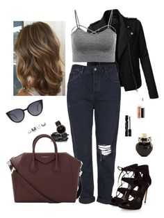 """""""#64"""" by stydialover on Polyvore featuring LE3NO, Topshop, Kenneth Jay Lane, Givenchy, Fendi, Kapten & Son, Shiseido, Aéropostale and MAC Cosmetics"""