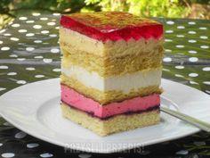 Ciasto piętrowiec z galaretką