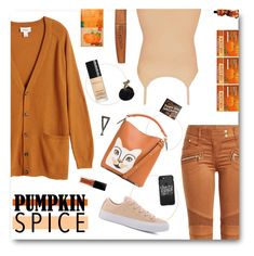 Pumpkin Spice and Everything Nice   (Contest Entry) by mormon-girl on Polyvore featuring polyvore fashion style Monki BKE Balmain Converse Loewe Sole Society Casetify Rimmel Gucci Burt's Bees Aesop clothing orange autumn sneakers sweaterweather pumpkinspice
