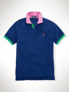 Custom-Fit Color-Blocked Polo - Polo Ralph Lauren Custom-Fit  - RalphLauren.com