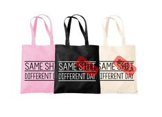Rude Quote Shopping Bag Offensive Bag Same by TheHenCompany