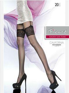 Ladies Elegant Flower Design Collant Tights Hosiery 20 Denier Socks P24
