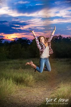 @meghandianne - Heritage High School - Class of 2015 - Senior Portraits - @neeneestiles - Senior Pictures - Arbor Hills Nature Preserve - Sunset - #seniorportraits - Ideas for Girls - Jumping - Country Chic - Tyler R. Brown Photography