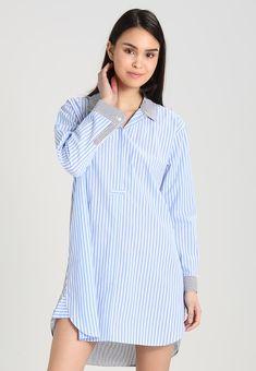 GAP SHIRTDRESS - Koszula nocna - think thin blue - Zalando.pl Think Thin 9769cb254