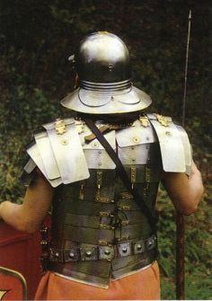 Roman Legionary equipment, rear view.