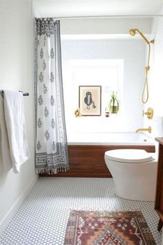 vancouver mid century bathroom with modern bath mats midcentury and honeycomb tile teak Home Depot Bathroom, Bathroom Renovations, Home Remodeling, Small Bathroom, Master Bathroom, Bathroom Ideas, Design Bathroom, Modern Bathrooms, Bathroom Grey
