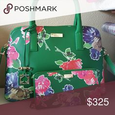 Kate Spade brightwater drive set- purse and wallet Purse and wallet. Fab deal Kate Spade Bags Satchels