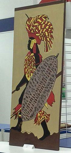 """""""Zulu Warrior""""             24x48 Acrylic Paint on Canvas                                 $199.95"""