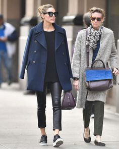 Olivia Palermo with her mother Lynn Hutchings