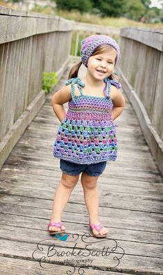 Kids Clothing, Childrens Summer Top, Swimsuit Cover, Crochet Tank Top, Beachwear. $35.00, via Etsy.