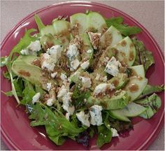 Avocado and Pear Salad Recipe #stepbystep