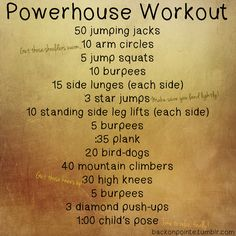 A full body workout!