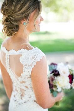 Lace elegant wedding gown: Photography : Scott Clark Photography Read More on SMP: http://www.stylemepretty.com/california-weddings/silverado/2016/10/18/this-romance-filled-vineyard-wedding-is-all-the-pretty-youll-ever-need/