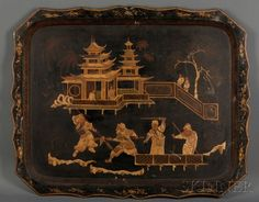 English Chinoiserie Tole Tray | Sale Number 2566B, Lot Number 1224 | Skinner Auctioneers