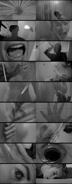 Alfred Hitchcock's Psycho (1960) shower scene.