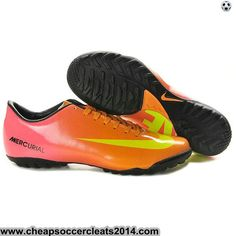 Cheap Soccer Cleats Nike Mercurial Vapor IX TF Cleats Pink Orange Yellow  Crampons Football eafea331c5a40
