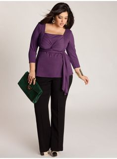 Ashley Infinity Tunic in Grape -