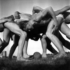 Jan Kosidowski (1922 Lodz - 1992 Warsaw) Rugby, 1957 ed. 2013, 1/7 black-white photograph, pigment print/barite paper, 80,5 x 80,7 cm (sheet) from the author's negative 6 x 6 cm