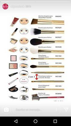 Pin by Amina Hayat on beauté in the year 2 . - Pin by Amina Hayat on beauté in 2019 Makeup Brush Uses, Makeup 101, Eye Makeup Brushes, Contour Makeup, Eyebrow Makeup, Skin Makeup, Beauty Makeup, Highlighting Contouring, Contour Brush