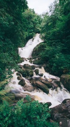 Torc Waterfall, a beautiful place to visit in Killarney National Park, Ireland
