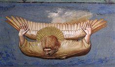 GIOTTO di Bondone -  No. 35 Scenes from the Life of Christ: 19. Crucifixion (detail) 1304-06 Fresco Cappella Scrovegni (Arena Chapel), Padua