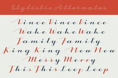 CA Capoli Family Fonts CA Capoli is a fine script typeface with a vintage touch. Perfect for illustrative titles or logotyp by Cape Arcona Type Foundry