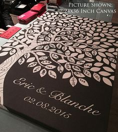 Custom Wedding Guest Book // Wedding Guest Book Ideas // Wedding Tree Guestbook // 16x20 // 55-150 Signatures // Canvas or Flat Print