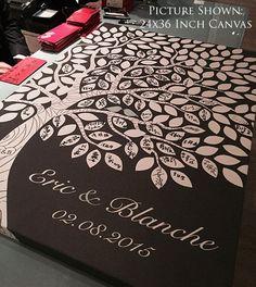 Custom Wedding Guest Book // Wedding Guest Book Ideas // Wedding Tree Guestbook // 16x20 // 55-150 Signatures // Canvas or Flat Print