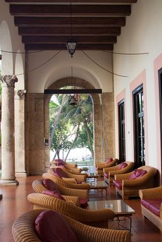 Shaded veranda at the Hotel Nacional, Havana, Cuba by abaesel, via Flickr