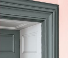 This deep shade combines blue, green and grey paint tones, offering subtle colour changes in different lights. Browse our range of luxury green paint online. Pink Paint Colors, Room Colors, Wall Colors, House Colors, Little Greene Farbe, Little Greene Paint, Painted Stairs, Painted Floors, Peinture Little Greene