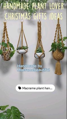 Macrame Plant Hanger Patterns, Macrame Plant Hangers, Jute Crafts, Fabric Crafts, Interior Garden, Hanging Planters, Christmas Gifts, Handmade Gifts, Canopy Outdoor