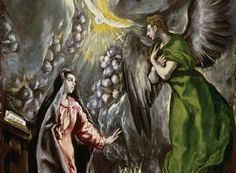 """A detail from El Greco's painting """"The Annunciation"""" (1596-1600), which is over 10 feet tall."""