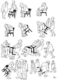 Herluf Bidstrup - A memorial site - Cartoons - The best collection of drawings on the net - Armchair- If the cheap chair too small for your ass. Social Themes, Fun Comics, Pulp Art, Sign Language, Caricature, Armchair, Illustration Art, Humor, Drawings