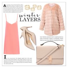"""Winter Layers: Slip Dress"" by mleonenkova ❤ liked on Polyvore featuring Raey, Forever 21, women's clothing, women's fashion, women, female, woman, misses and juniors"