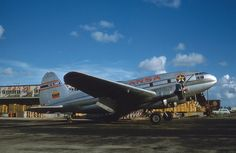 Curtiss C-46A-55-CK Commando (YV-CARF, c/n 247) of RANSA at MIA in Jul 1959, by xsacman