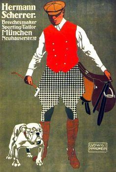 1907, Breechesmaker by Ludwig Hohlwein (Fashion)
