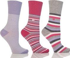 Womens Patterned Gentle Grip Sock By Sock Shop Honeycombe Loose Top 6 Pair Pack