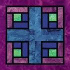 Stained Glass Modern Squares Quilt Block Pattern