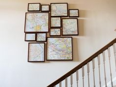 Fractured, Framed Map Art in DIY Wall Art Projects  from HGTV