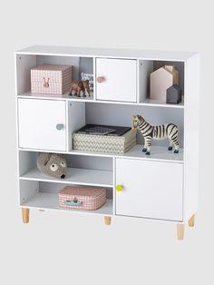 Vertbaudet Regal für Kinderzimmer, 3 Türen in weiß