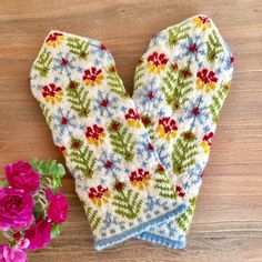 Knit Mittens, Mitten Gloves, Fair Isle Knitting, Knit Crochet, Projects To Try, Textiles, Inspiration, Clothes, Products