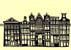 Beautiful papercuts by Joseph Segaran of Amsterdam buildings