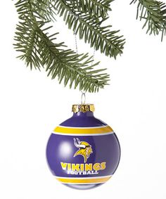 Take a look at this Purple & Gold Minnesota Vikings Glass Ball Ornament by T.E.I. on #zulily today!