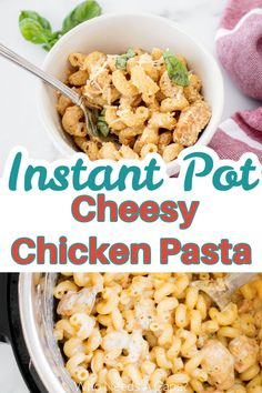 Instant Pot Cheesy Chicken Pasta is the perfect weeknight meal that's family-friendly! Hearty & delicious, this is a wonderful dinner. Instant Pot Pressure Cooker, Pressure Cooking, Easy Dinner Recipes, Easy Meals, Cheesy Chicken Pasta, Slow Cooker Freezer Meals, Amazing Recipes, Weeknight Meals, Main Dishes