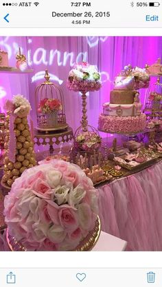 Aura A's Birthday / Princess - Photo Gallery at Catch My Party Decoration Evenementielle, Sweet 16 Decorations, Quince Decorations, Quinceanera Decorations, Quinceanera Party, Sweet 16 Birthday, 16th Birthday, Birthday Bash, Girl Birthday