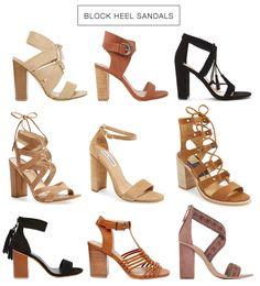 Spring Trend: Block Heel Sandals